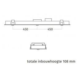 Wave Design 3663.34 inbouwunit 120 x 30 cm - wit RAL 9016 mat - motorloos - LED