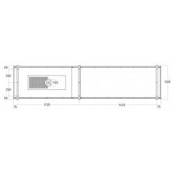 Wave Design 2055.23 FRAME links - 270 cm eilandafzuigkap - kleur naar keuze - mat/glanzend - interne motor - LED verlichting
