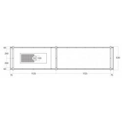 Wave Design 2055.02 FRAME links - 300 cm eilandafzuigkap RVS - interne motor - LED verlichting