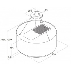 Wave Design 2630.81 LAMP 90 cm - 1 kleur naar keuze - LEDDISC