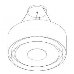 Wave Design 2630.00 afzuiglamp 90 cm - RVS - vaste interne motor - LEDDISC