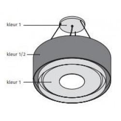 Wave Design 1119.22 90 cm wandafzuigkap - 2 kleuren naar keuze - interne motor recirculatie - LED