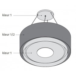 Wave Design 2620.85 - LAMP 90 cm - 2 kleuren naar keuze - mat/glanzend - LEDDISC