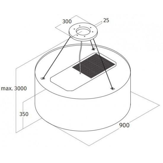 Wave Design 2620.93 - LAMP 90 cm - geschikt voor lederen bekleding - RVS - LEDDISC