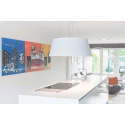 Wave Design 2627.22 afzuiglamp 90 cm - 2 kleuren naar keuze - mat/glanzend - interne motor - LED