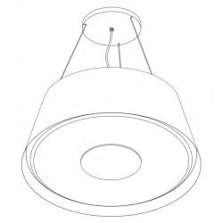 Wave Design 2627.00 afzuiglamp 90 cm - RVS - interne motor - LED
