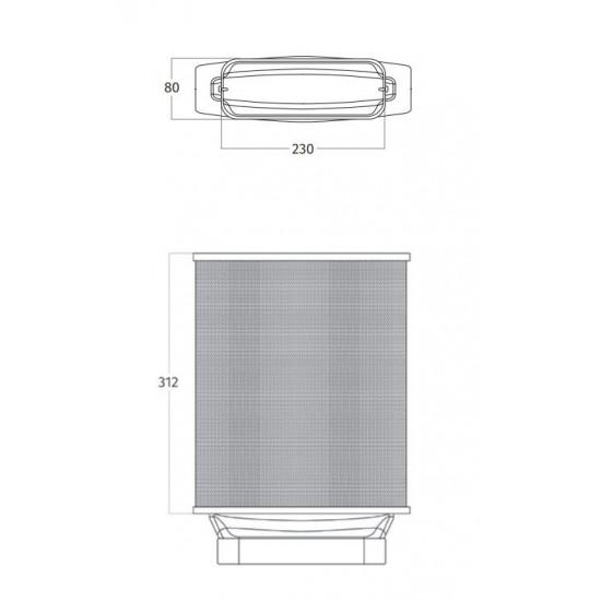 Wave Design 99202.28 koolstoffilter long-life plat