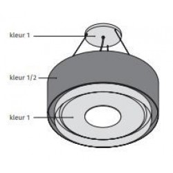 Wave Design 1119.24 120 cm wandafzuigkap - 1 kleur naar keuze - interne motor recirculatie - LED