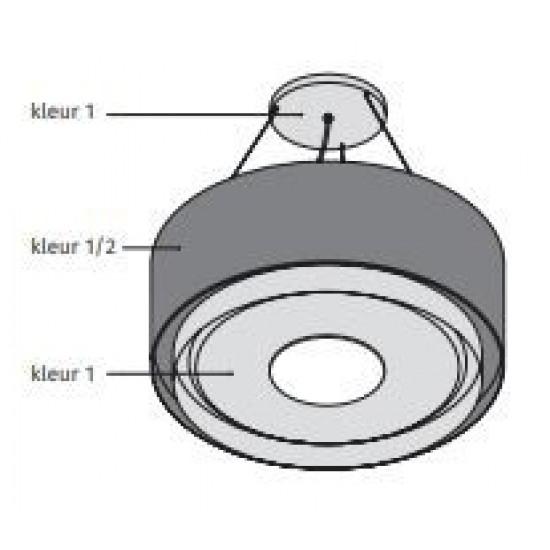 Wave Design 1119.25 120 cm wandafzuigkap - 2 kleuren naar keuze - interne motor recirculatie - LED