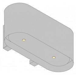 Wave Design 1119.10 90 cm wandafzuigkap - RVS - motor met afvoer naar buiten - LED