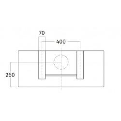 Wave Design 1119.50 90 cm wandafzuigkap - geschikt voor lederen bekleding - RVS - motor met afvoer naar buiten - LED