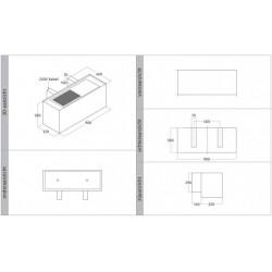 Wave Design 1120.00 90 cm wandafzuigkap - RVS - interne motor recirculatie - LED