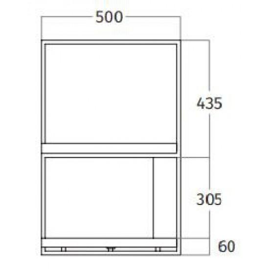 Wave Design 1055.24 FRAME links - 300 cm wandafzuigkap zwart - RAL 9017 mat - interne motor - LED verlichting