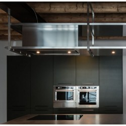 Wave Design 1057.21 FRAME midden - 240 cm wandafzuigkap kleur naar keuze - mat/glanzend - interne motor - LED verlichting