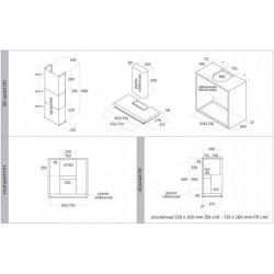 Wave Design 3620.11 inbouwunit 76 cm - RVS met glas - motorloos - LED verlichting